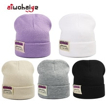 2021 New Winter Hat Women's Hat Fashion Patch Knitted Hat Outdoor Warm Hat Men's Hat Casual Sports H