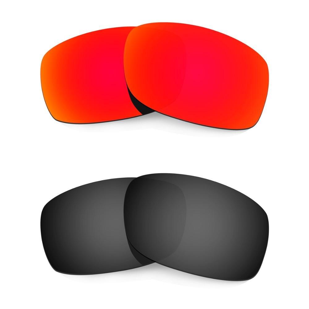 HKUCO ل الخمسات 3.0 النظارات الشمسية استبدال العدسات المستقطبة 2 أزواج-الأحمر والأسود