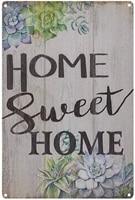 Panneau de barre en etain Vintage pour maison douce 8x1  decoration murale de ferme  Plaque decorative de jardin pour salon  chambre ou salle de bain