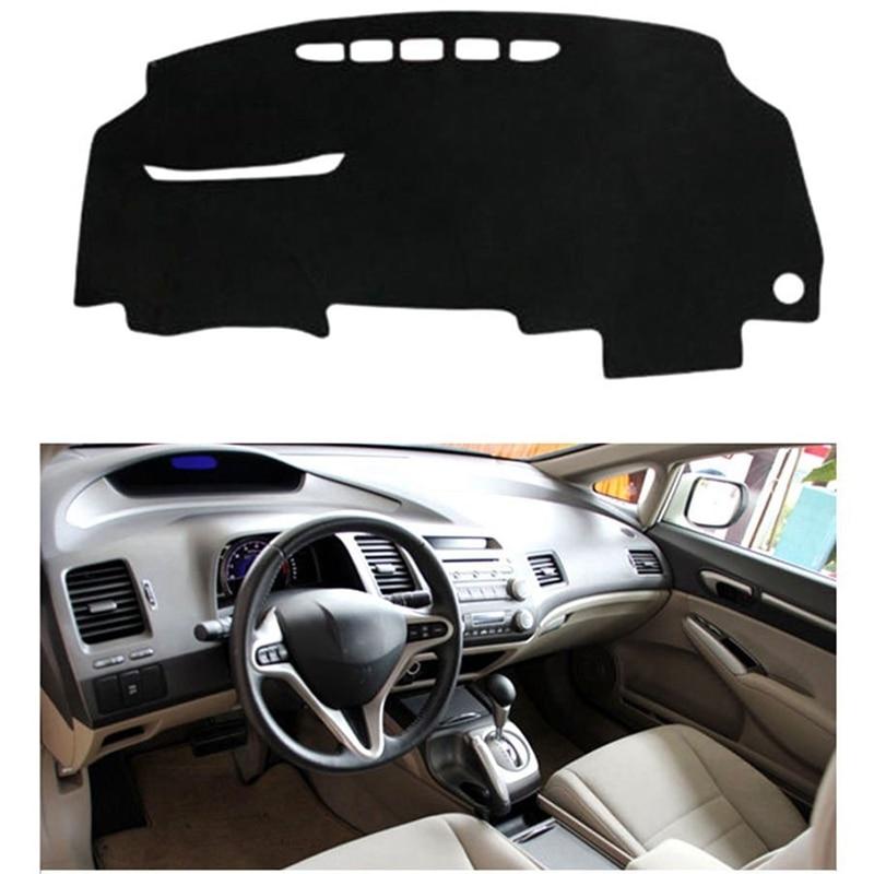 Cubierta para salpicadero de coche, alfombrilla para tablero, alfombrilla para salpicadero, alfombrilla Anti-Uv para Honda Civic 2006 -2010, accesorios para coche