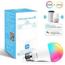 Siri Voice Control 15W RGB Smart Light Bulb Dimmable E27 B22 WiFi LED Magic Lamp AC 110V 220V Work with Alexa Google Home