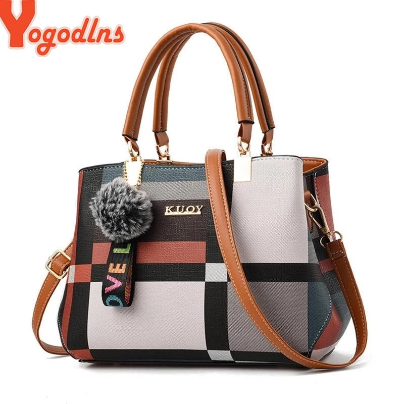 Yogodlns nouveau sac à main de luxe femmes couture sauvage sacs de messager marque de concepteur sac à bandoulière à carreaux femme dames fourre-tout