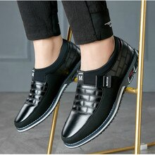 Brand Leather Men Casual Shoes 2019 Brand Mens Loafers Moccasins Breathable Slip On Black Driving Sh