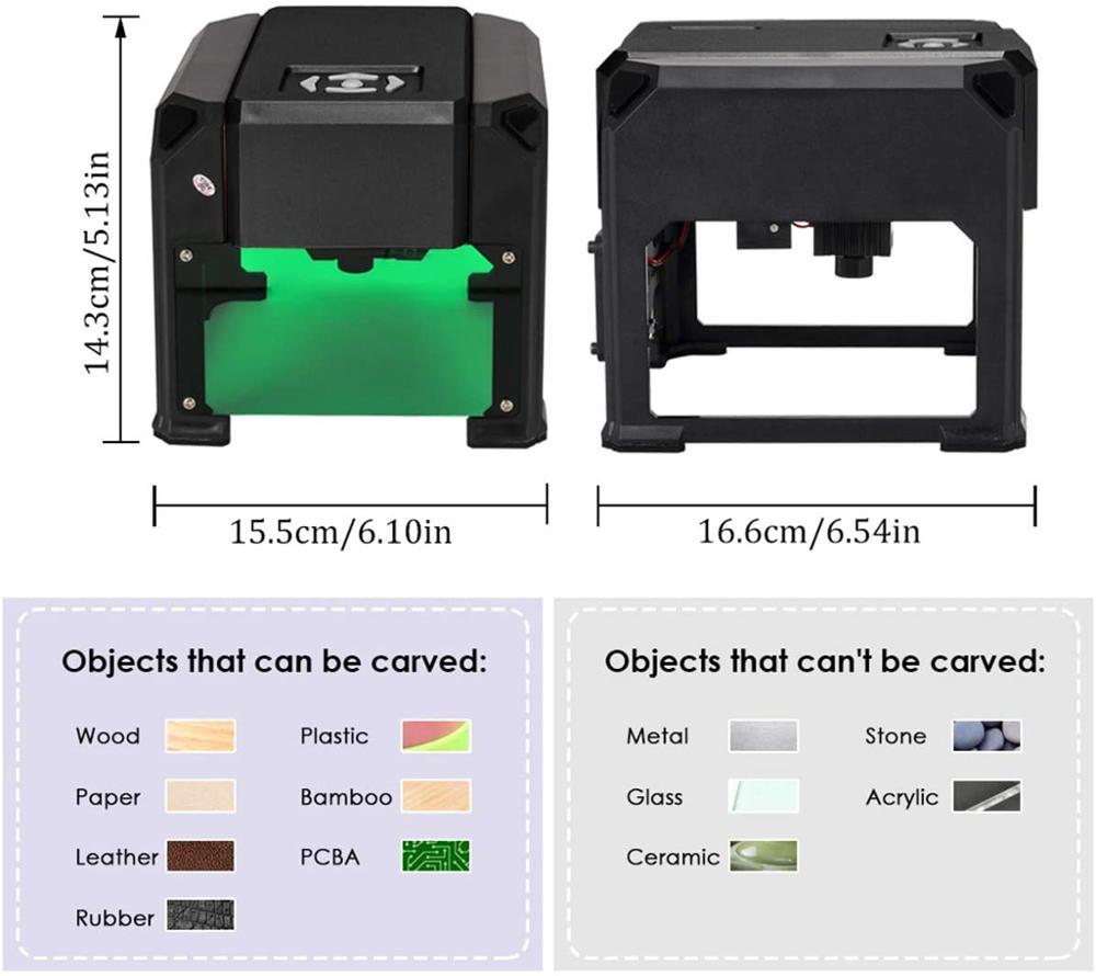 Incisore laser CNC 3000mw fai da te, stampante laser logo, mini - Attrezzature per la lavorazione del legno - Fotografia 5