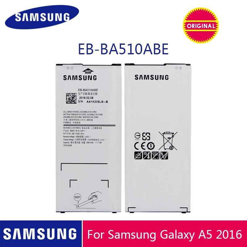 SAMSUNG оригинальный аккумулятор для телефона EB-BA510ABE 2900 мАч для Samsung Galaxy A5 2016 A510 A510F A5100 A510M A510FD A510K A510S