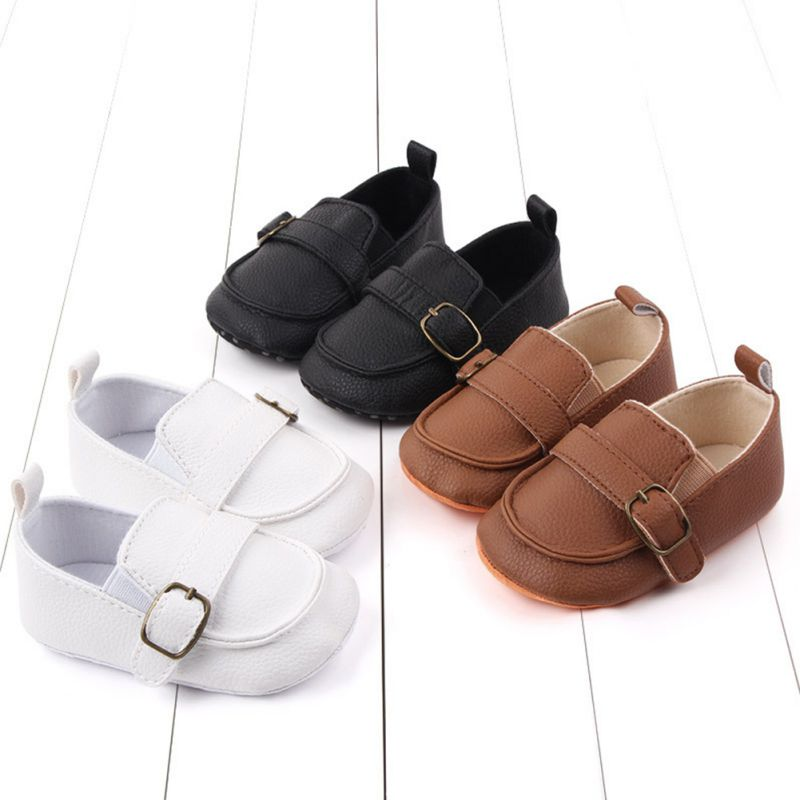 Brand 111Baby Girl Infant Cute Fashion Soild Pattern Shoes Peas Shoes Baby PU Leather Baby Shoes Sof