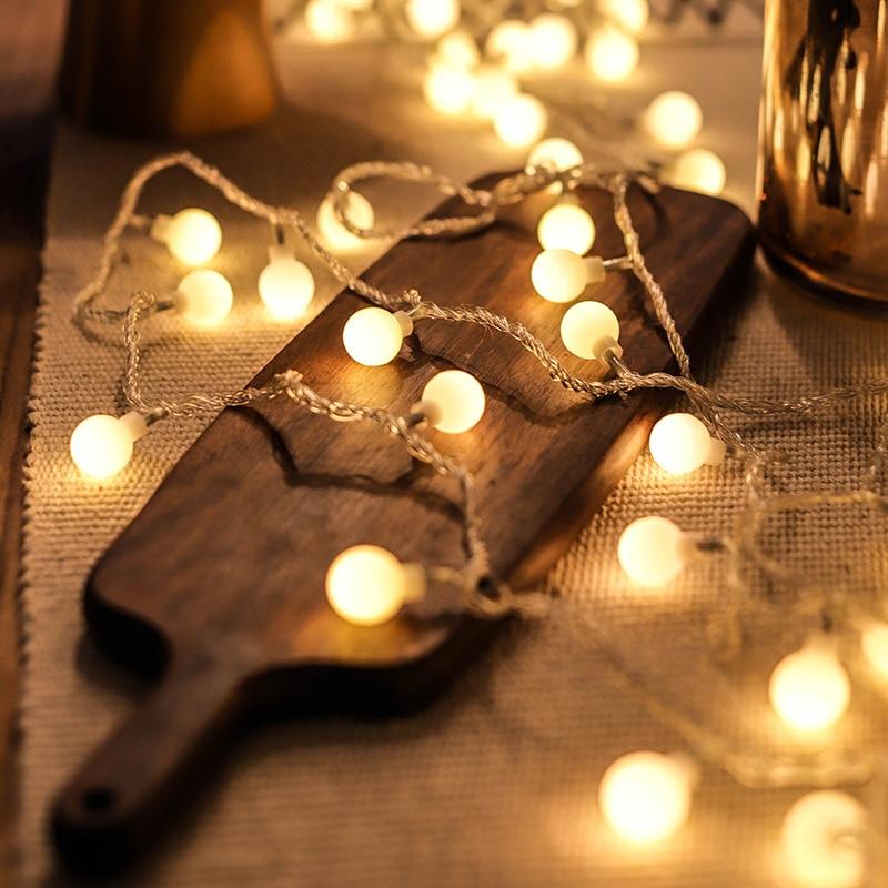 Adornos navideños para el hogar guirnalda con luz redonda LED guirnalda decoración de árbol de Navidad ornamento 2020 regalo de Navidad decoración de Año Nuevo