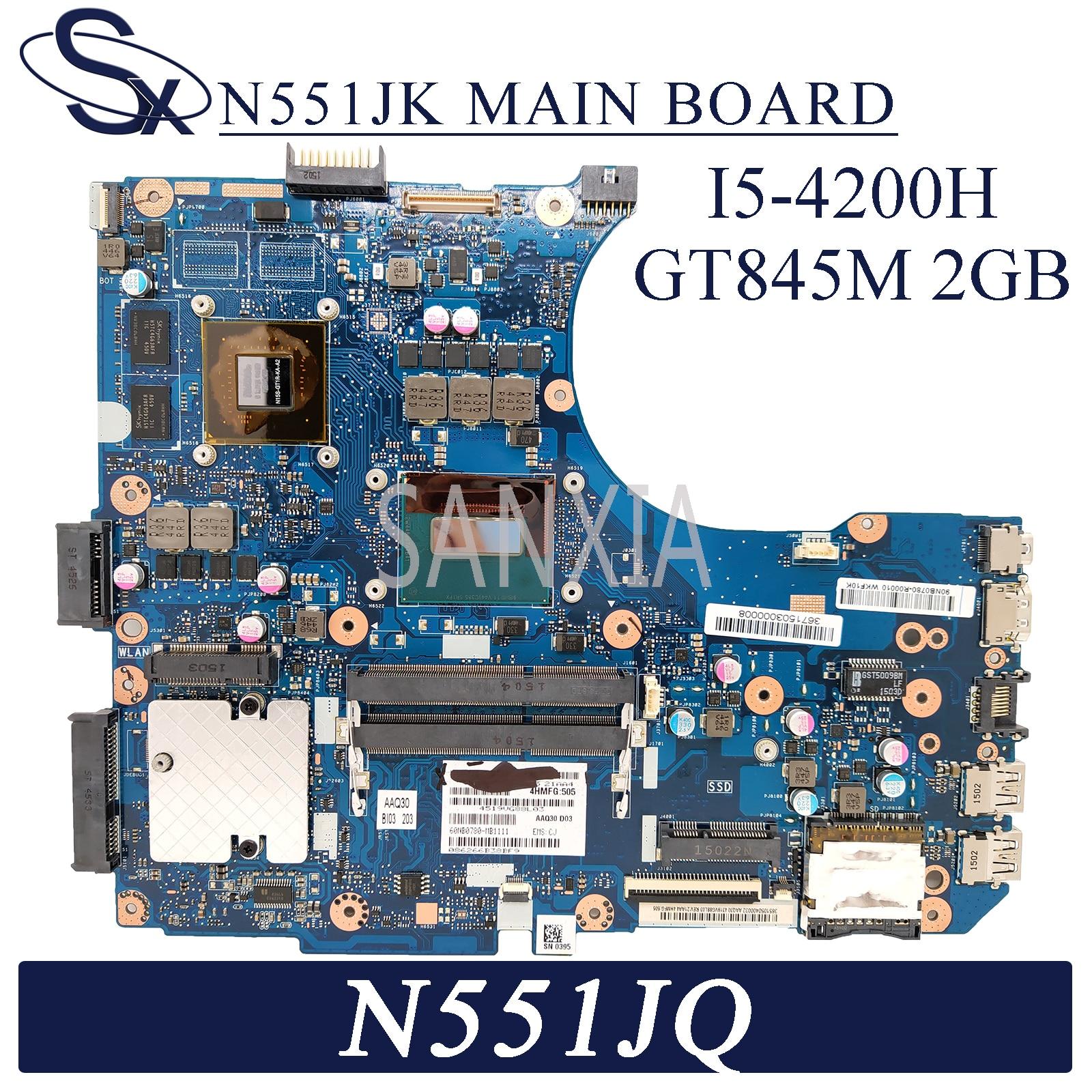 KEFU N551JK اللوحة لابتوب ASUS N551JQ N551JB G551JK G551J N551J اللوحة الأصلية I5-4200H GTX845M-2GB