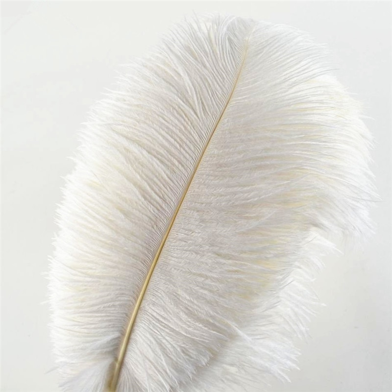 Wholasale Elegant White Ostrich Feathers for Crafts 15-75cm Wedding Party Supplies Carnival Dancer Decoration plumas Plumages wholasale elegant black ostrich feathers for crafts 15 70cm 6 28inch wedding party supplies carnival dancer decoration plumes