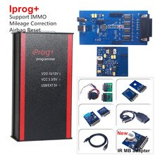 Iprog + مبرمج v84 يدعم IMMO + تصحيح الأميال + إعادة تعيين الوسادة الهوائية Iprog Pro حتى 2019 استبدال Carprog/Digiprog/Tango