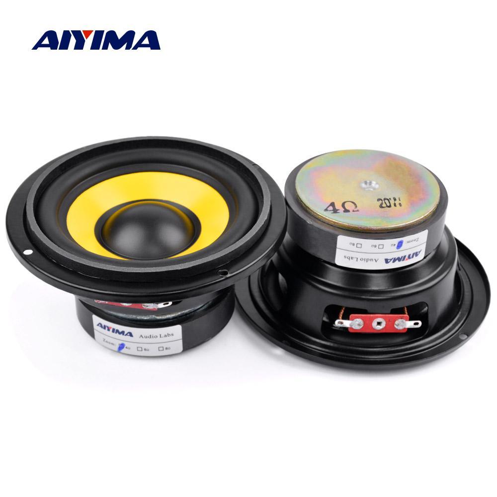 AIYIMA 2 шт. 4-дюймовый низкочастотный басовый динамик 4 8 Ом 20 Вт аудио сабвуфер, колонки DIY домашний кинотеатр музыкальный громкоговоритель