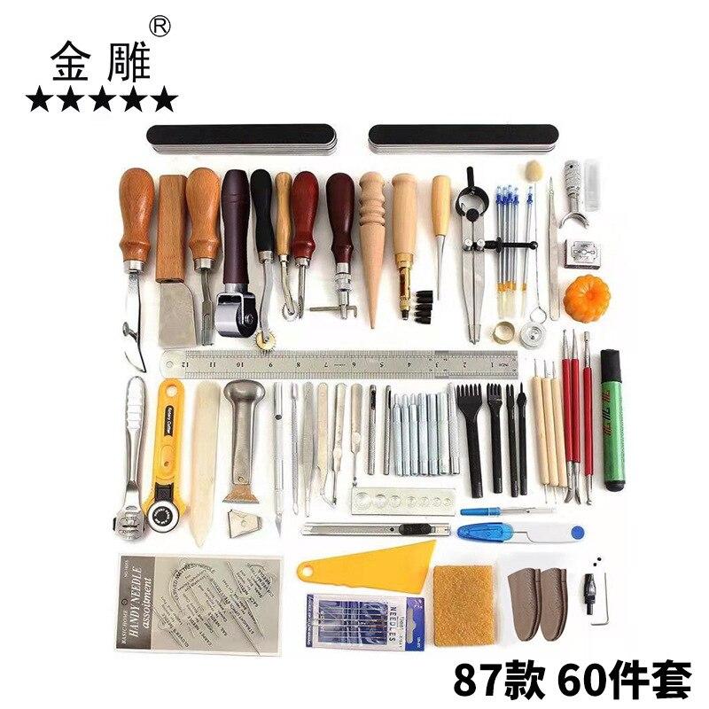60 مجموعات من الجلود مخيط يدويا مجموعة أدوات لتقوم بها بنفسك الفن قطع الماس مجموعة اليدوية ورقة طقم الفن 87 الفقرة