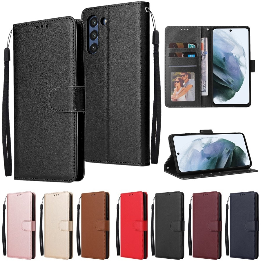 Leather Case For Samsung Galaxy S21 Ultra S20 S10 S9 S8 Plus S7 S6 Edge S5 S20 S21 FE S10E/Plus Wallet Case For Note 20/10/9/8