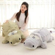 60cm Cute Crocodile Lying Section Plush Pillow Mat  Hand Doll Stuffed Toy Cartoon  Toys Kids Prize Gift WJ496