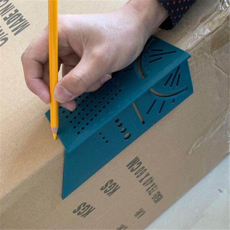 Famegmunkáló vonalzó 3D gérvágási szögmérő négyzetméret - Mérőműszerek - Fénykép 4