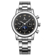 IK colouring Watch Men Watches Stainless Steel Automatic Mechanical Watches Men Moon Phase Watch Cas