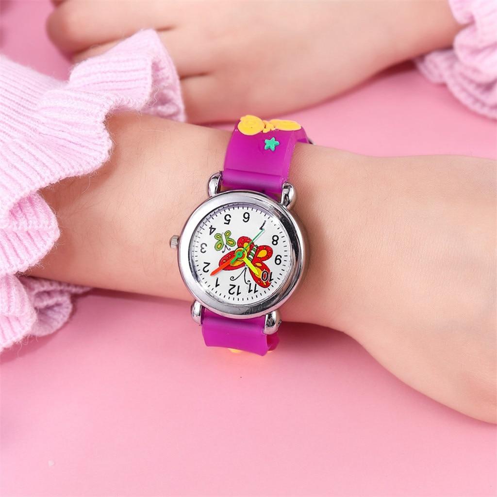 Children Cute Cartoon Pattern Watches Kids Boys Quartz Analog Wrist Watch Gift Simple Mesh Belt Quar