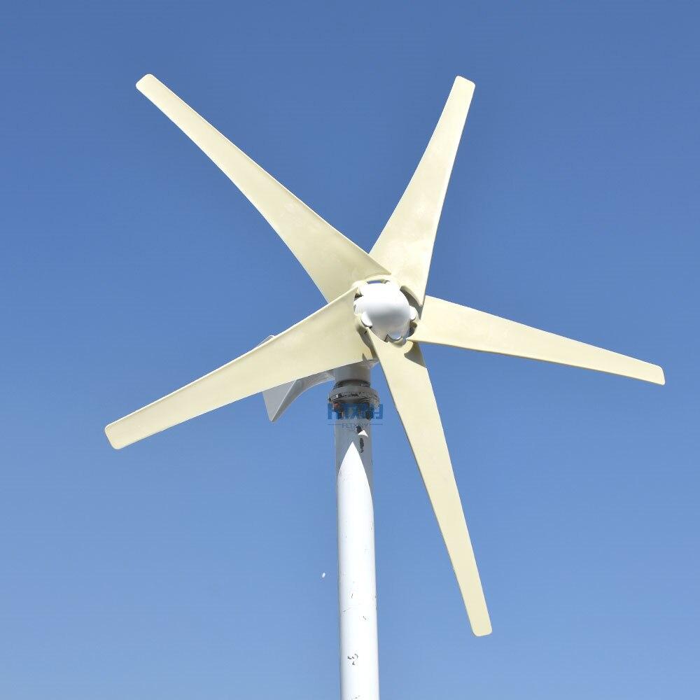 400W 500W 600W توربينات الرياح 12v 24v 48v أفقي Axies الرياح مولد مع تحكم ل Homeuse طاحونة شحن الطاقة