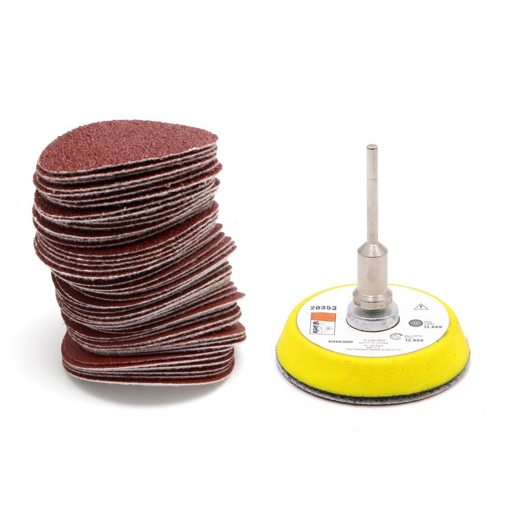 Наждачная бумага 2 дюйма, 50 мм, 50 шт., 60-180 Грат + M6, самоклеящийся шерстяной полировальный диск, Новинка