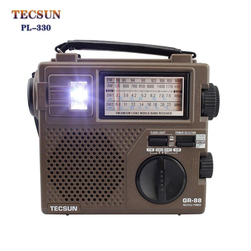 Tecsun GR-88P FM/MW/SW كامل الفرقة راديو استقبال راديو اليد الرقمية دينامو مع مصباح طوارئ LED