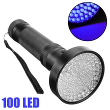 100 LED UV Ultra Violet Flashlight Lamp UV Blacklight Flashlight Lamp Torch Inspection Light For Outdoor Organic Waste Pet Stain