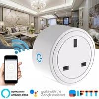 Mini US Uk Wifi Smart Plug With Surge Protector 2200W Voice Control Smart Socket Work For Amazon Alexa Echo Google Home