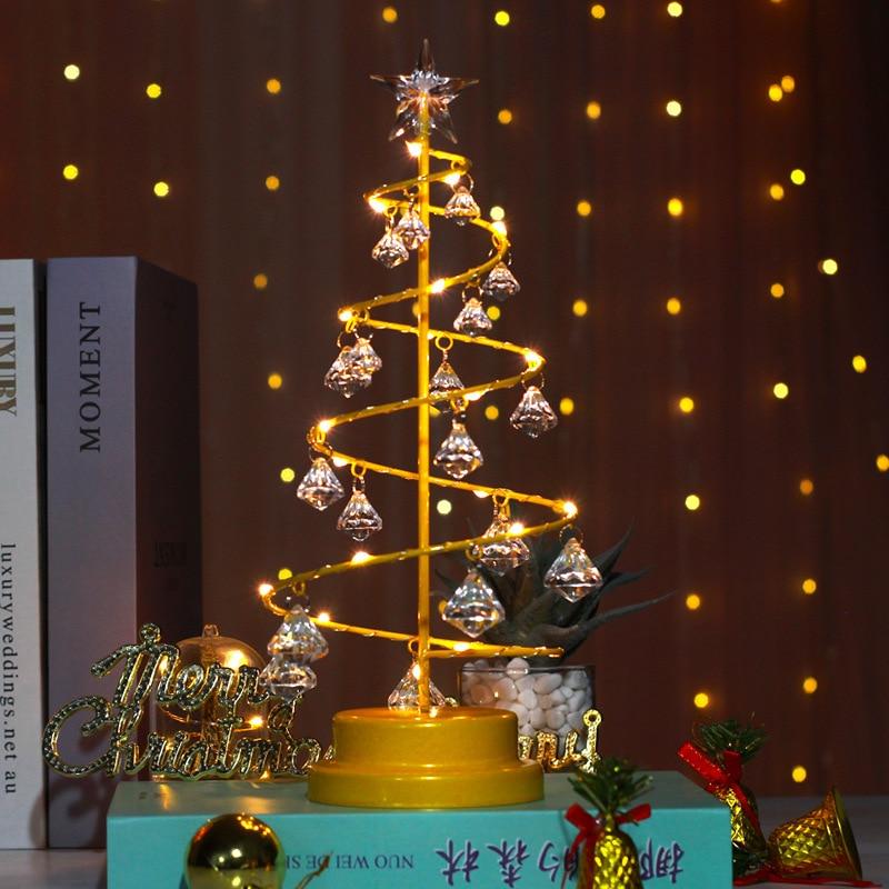 skidproof christmas lighting tree pattern rug Crystal Night Light Christmas Tree for Xma Party Wedding Fairy Room Outdoor Garland Decoration  Holiday Lighting Christmas Light