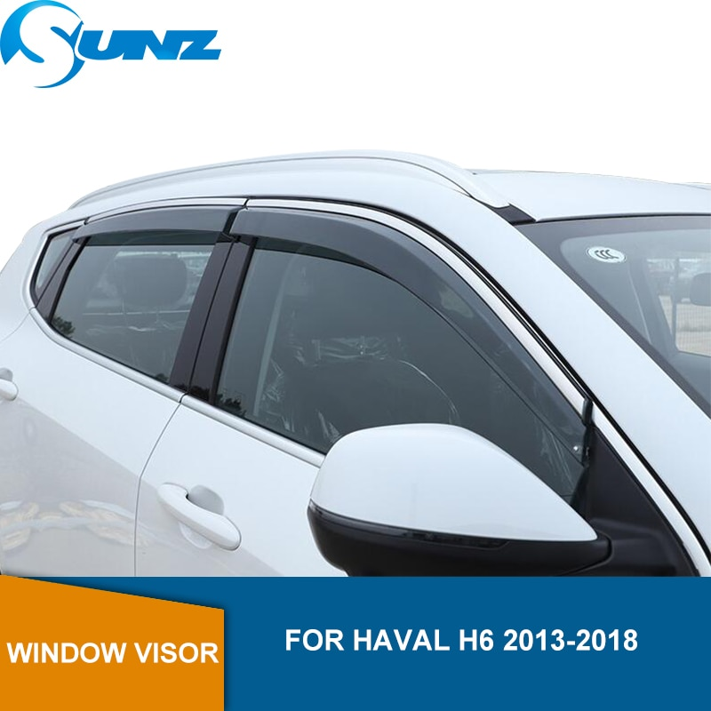 Car Wind Protector For Haval H6 2013 2014 2015 2016 2017 2018 2019 Highly Transparent Sun Rain Guards Weather Shield SUNZ