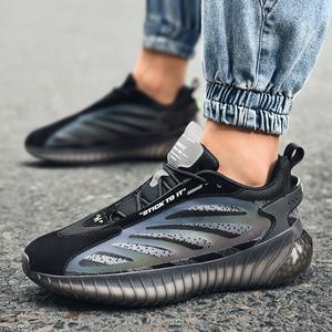 MenWalking обувь популярный износостойкий мужские кроссовки светильник Весна удобная мужская спортивная обувь на шнуровке; Обувь на подошве защита