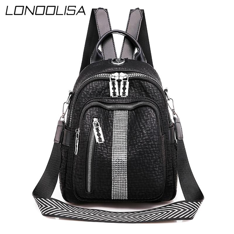 Casual Women Back Pack Bagpack 2020 Desiger Handbags High Quality Leather Backpacks for Teenage Girls Female School Bag  Mochila