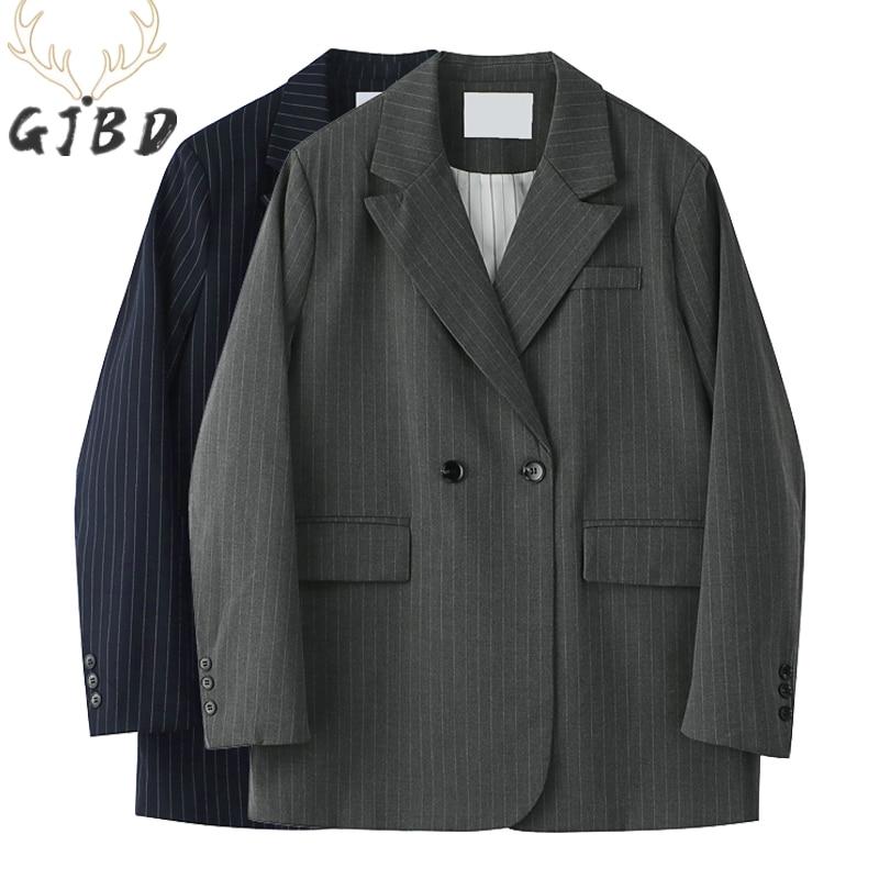 Женские блейзеры, пальто, осень 2021, повседневные топы, офисные женские Мешковатые куртки в Корейском стиле, модные дизайнерские куртки для п...