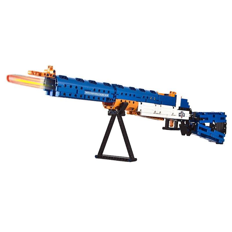 Bricks Military Gun series M1 Garand Semi-automatic rifle Modle Technic Building Blocks toys for Childrens gift