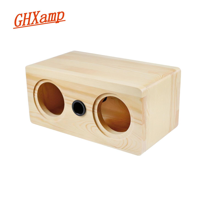 GHXAMP صندوق خشبي مكبرات الصوت 3 بوصة كامل Rnage المتكلم قذيفة فارغة الجسم ل 2.0 Hifi المنزل ثيت مكبر الصوت 1 قطعة