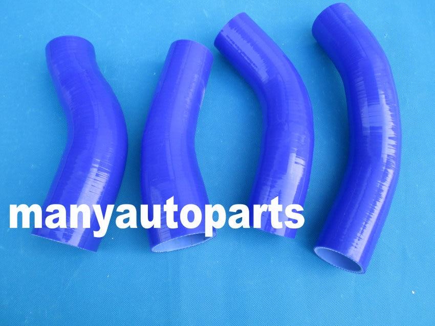 Manguera de silicona intercooler Kit para Nissan Fairlady 300ZX Z32 Turbo 4 Uds azul