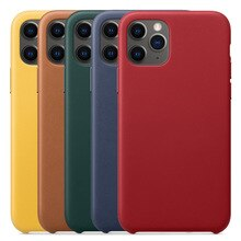 Official Leather Case For iPhone 13 Mini 11 Pro Max Cover Case For iPhone 12 8 7 Plus X XS MAX XR Genuine Leather Case