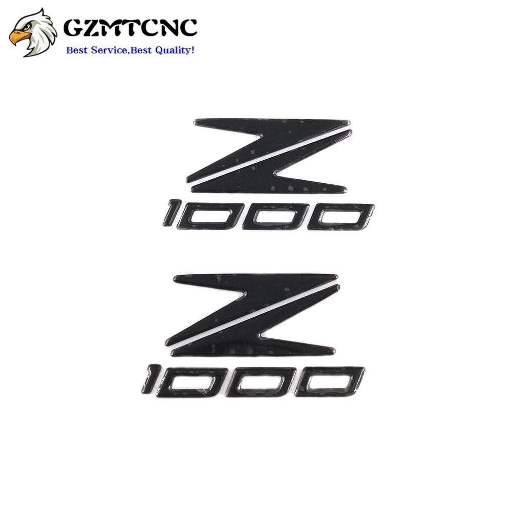 Para kawasaki z1000 z 1000 motocicleta lado do tanque de combustível óleo almofada capa adesivo decalque 3d emblema emblema z1000 logotipo símbolo decoração
