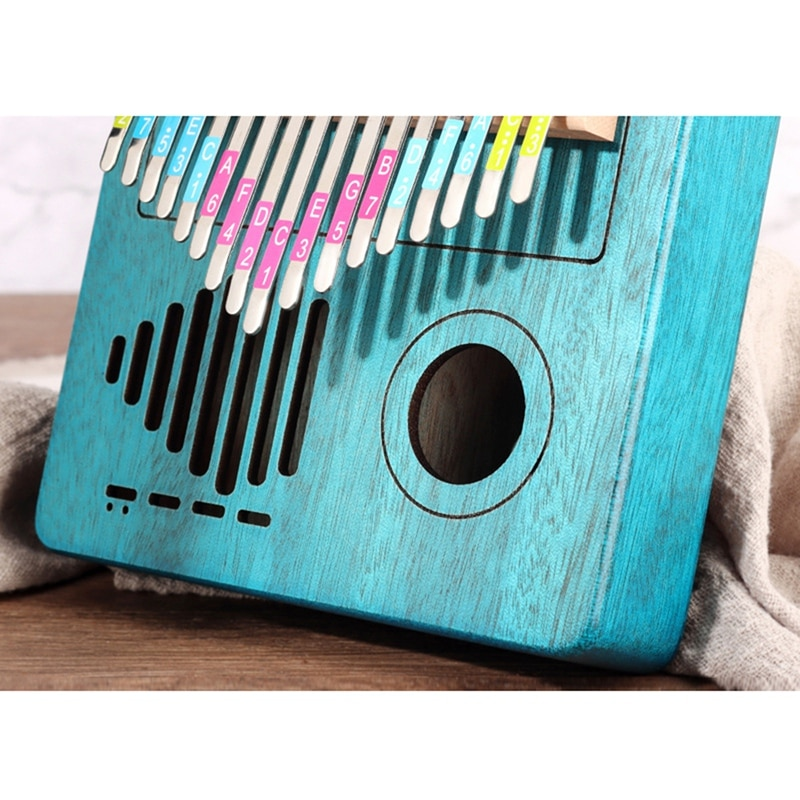 Kalimba 17 Keys Thumb Piano with Flannelette Bags Tutorial Books Tuning Hammers for Kids Adult Beginners Professional enlarge