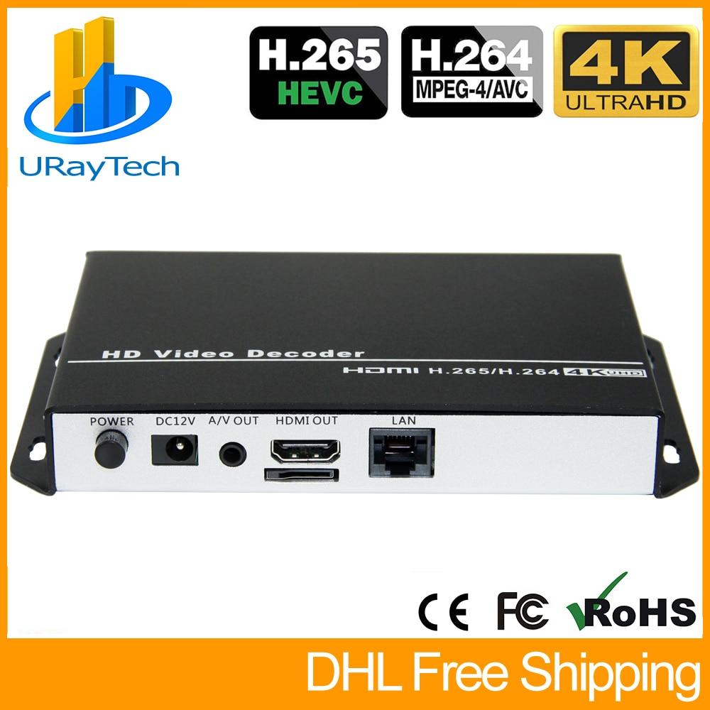 URay H.265 H.264 1080P HD видео декодер HDMI + AV /RCA декодер IP декодер для камеры поддержка RTSP UDP HLS RTMP HTTP декодер