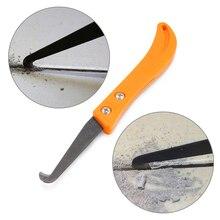 Profesjonalny żółty uchwyt Gap Hook nóż narzędzie do naprawy płytek stare narzędzie do czyszczenia zaprawy usuwanie pyłu stalowe narzędzia ręczne