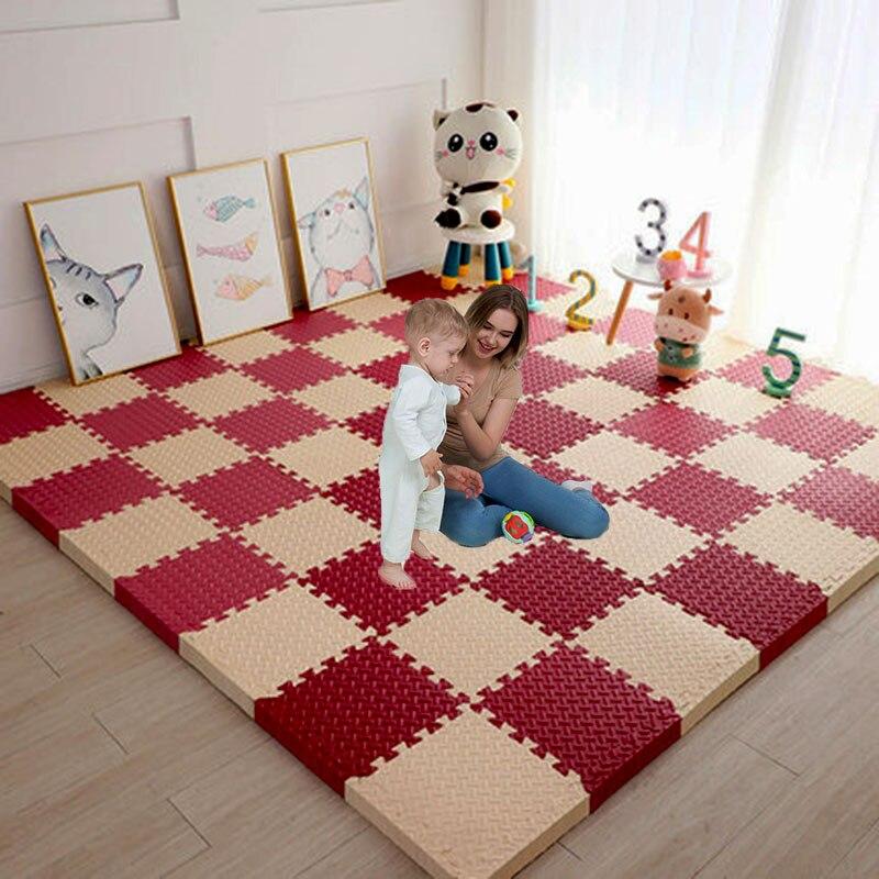 Детские коврики-пазлы, игровые коврики, Детские стеганые пенные коврики, для ковров и напольной плитки игрушечные ковры, мягкие коврики из Э...