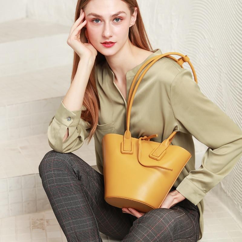 2020 New Retro Women's Bag Genuine Leather Belt Bag Shoulder Messenger Bag Crossbody Bags For Women Sac Main Femme