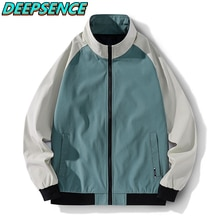 2021 New Spring Autumn Fashion Cool Jacket Men Korean Stand Zipper Polyester Simple Casual Streetwea