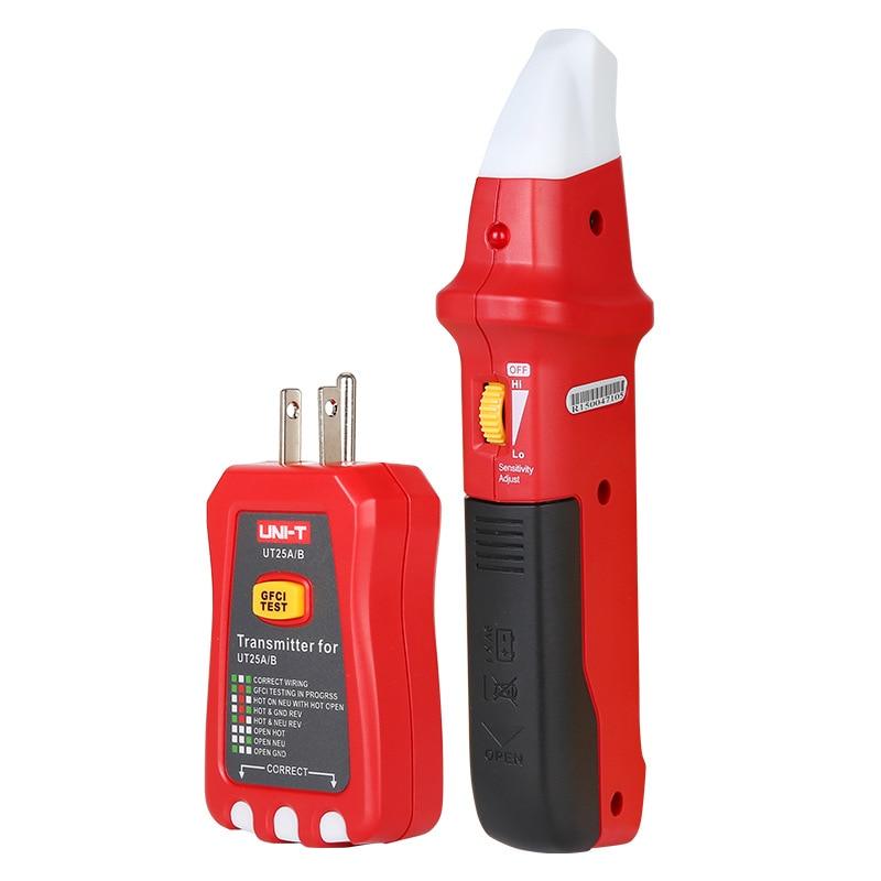 UNI-T UT25A profesional automático circuito buscador de interruptor Socket Tester electricista diagnóstico-herramienta con indicador LED