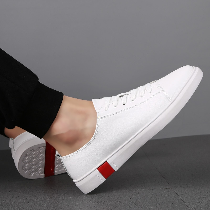 New Fashion Men Genuine Leather Casual Shoes Lightweight Breathable Flats Shoes Luxury Brand Men's W