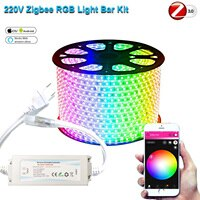 Контроллер Zigbee Smart Life Tuya, уличная Водонепроницаемая светодиодная лента RGB 5050SMD, 220 В, 230 В, 1-15 м