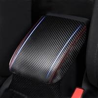 car interior carbon style microfiber leather center armrest cover sticker trim for vw golf 7 mk7 2014 2015 2016