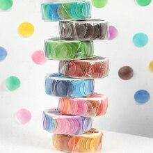 Yoofun 100 Pcs/Roll Candy Colors Dots Washi Tape Adhesive Tape DIY Scrapbooking Round Stickers Label Japanese Masking Tape