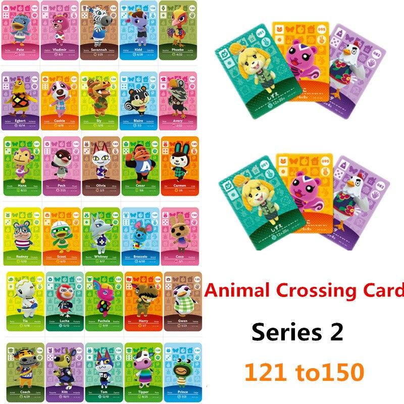 Tarjetas de Amiibo 121-150, tarjetas de animales cruzadas Amiibo Villager, nuevos Horizons de bienvenida, tarjetas Amiibo, conjunto de temporada Serie 2