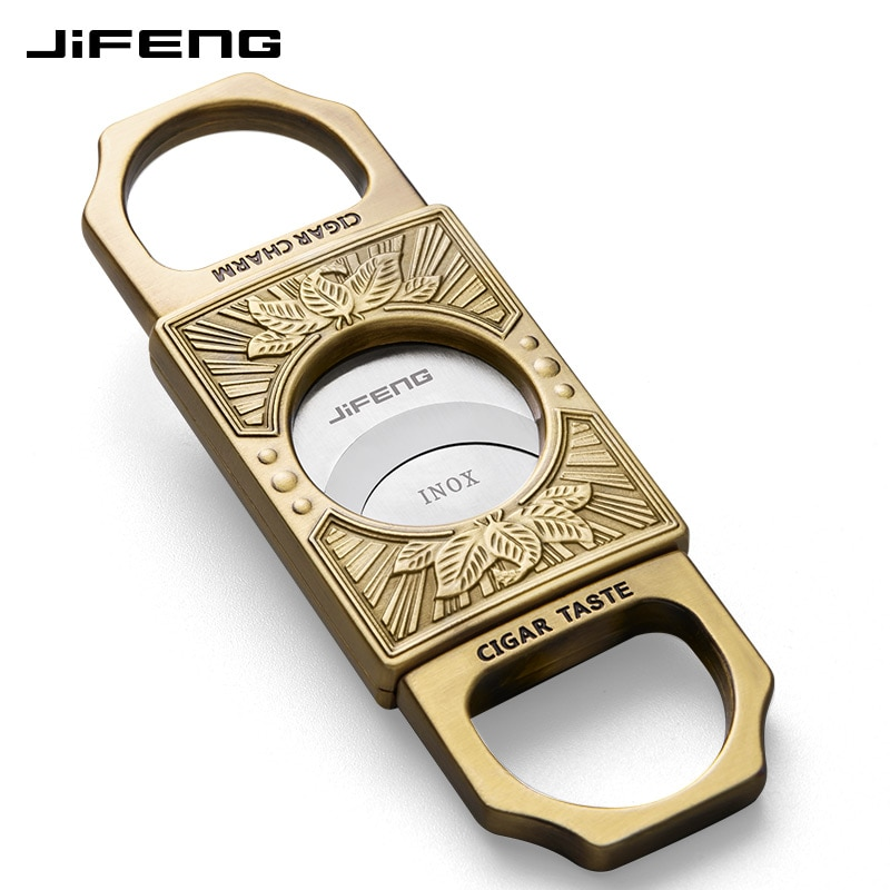 Sharp Portable Cigar Cutter Stainless Steel Smoke Double Blade Cigar Accessories Cool Gadgets Fumar Household Products DG50XJ enlarge