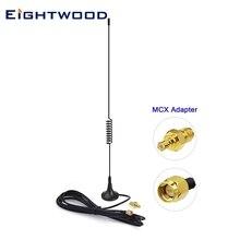 Eightwood 978MHz 1090MHz 5dBi podstawa magnetyczna dwuzakresowy SMA męski MCX antena antena dla lotnictwa pamięć USB Dongle Tuner odbiornik